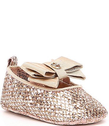 Image of MICHAEL Michael Kors Baby Day Ballerina Crib Shoes (Infant)