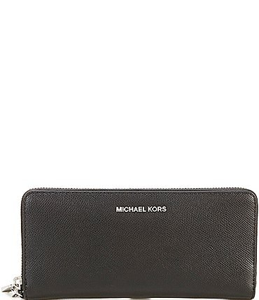 Image of MICHAEL Michael Kors Silver-Tone Jet Set Continental Multifunction Phone Wallet