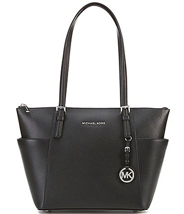 Image of MICHAEL Michael Kors Jet Set East West Silver Tone Tote Bag