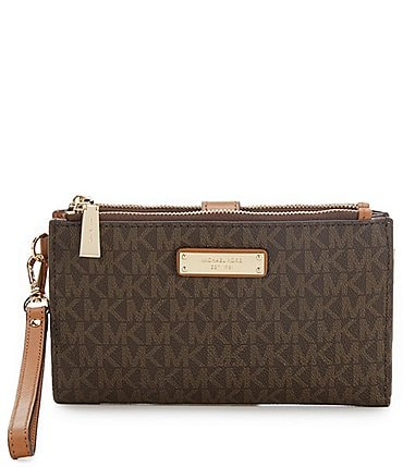 Image of MICHAEL Michael Kors Signature Adele Double-Zip Wristlet