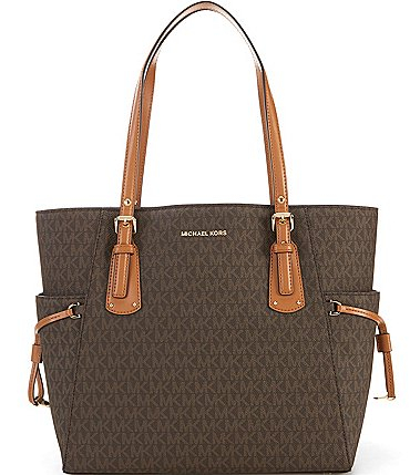 Image of MICHAEL Michael Kors Voyager Signature Colorblock Tote Bag