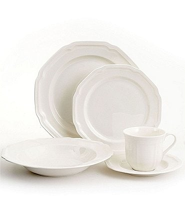 Image of Mikasa Antique White Porcelain 5-Piece Place Setting