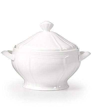 Image of Mikasa Antique White Porcelain Covered Casserole
