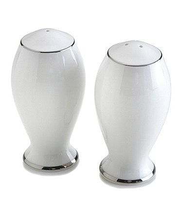 Image of Mikasa Cameo Platinum China Salt and Pepper Shaker