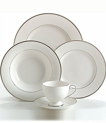 Image of Mikasa Cameo Platinum Porcelain 5-Piece Place Setting