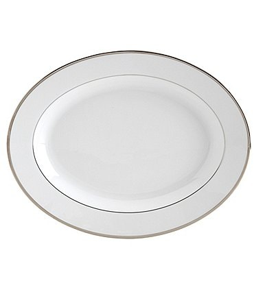 Image of Mikasa Cameo Platinum Porcelain Oval Platter