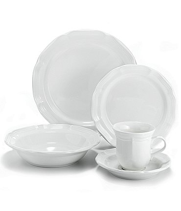 Image of Mikasa French Countryside Rippled Stoneware 5-Piece Place Setting