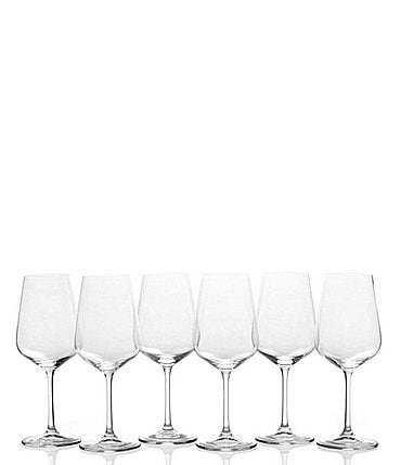 Image of Mikasa Gianna White Wine Glasses, Set of 6
