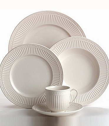 Image of Mikasa Italian Countryside Ridged Floral Stoneware 5-Piece Place Setting
