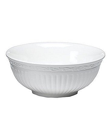 Image of Mikasa Italian Countryside Ridged Floral Stoneware Fruit Bowl