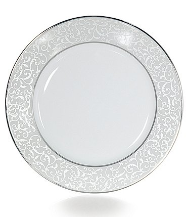 Image of Mikasa Parchment Ivy Scroll Platinum Porcelain Dinner Plate