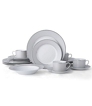 Image of Mikasa Percy Gray 20-Piece Dinnerware Set