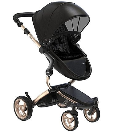 Image of Mima Xari Stroller - Champagne Chassis with Black Reversible Seat and Carrycot