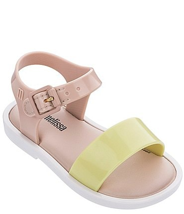 Image of Mini Melissa Girls' Mar IV Colorblock Waterproof Sandals (Infant)