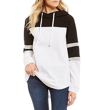 Image of Miss Chievous Cozy Colorblocked Cowl Neck Sweatshirt Hoodie
