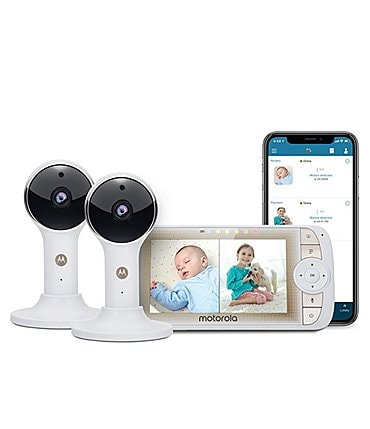 "Image of Motorola 5"" Wi-Fi® Video Baby Monitor with Two Cameras"