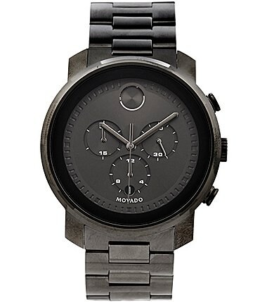 Image of Movado Bold Gunmetal Stainless Steel Chronograph Watch