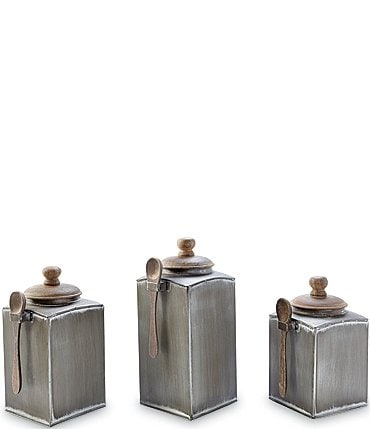Image of Mud Pie Aged Tin Canister Set