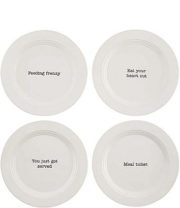 Image of Mud Pie Appetizer / Salad Plates, Set of 4