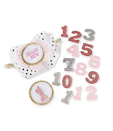 Image of Mud Pie Baby Girls Milestone 15-Piece Set