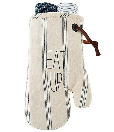 Image of Mud Pie Bistro Oven Mitt Towel Set