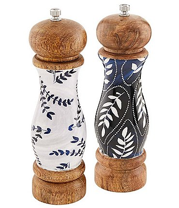 Image of Mud Pie Blue Enamel Salt and Pepper Grinder