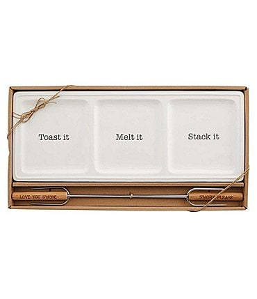 Image of Mud Pie Boxed Smores Tray Set