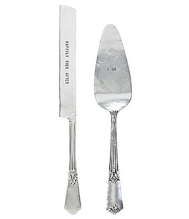 Image of Mud Pie Wedding I Do & Happily Ever After Cake Knife & Server Set