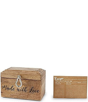 Image of Mud Pie Wedding Collection With Love Recipe Box