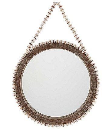 Image of Mud Pie Chateau Collection Beaded Hanging Wall Mirror