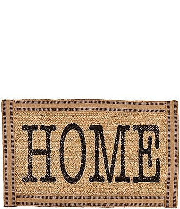 Image of Mud Pie Circa Collection Home Jute Webbing Trim Door Mat