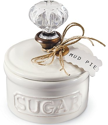 Image of Mud Pie Circa Vintage Doorknob Sugar Bowl