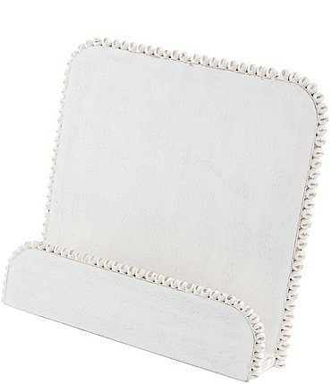 Image of Mud Pie Classic White Beaded Cookbook Holder