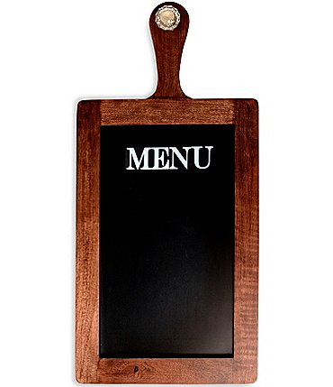 Image of Mud Pie Door Knob Wooden Paddle Menu Chalkboard Sign