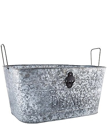 Image of Mud Pie Galvanized Extra Large Drinks Party Tub