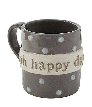 Image of Mud Pie Happy Day Boxed Coffee Mug