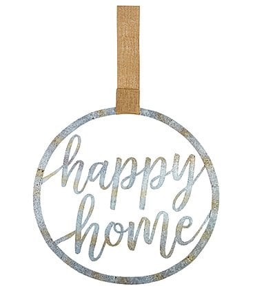 Image of Mud Pie Happy Home Tin Door Decor