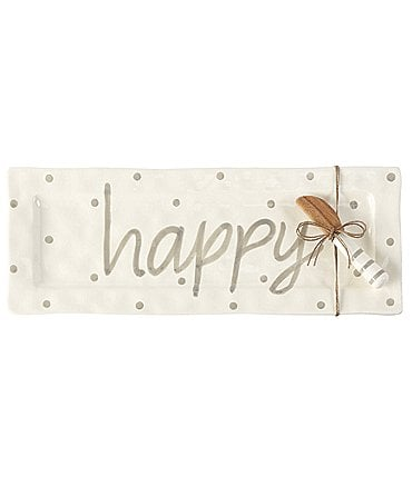 Image of Mud Pie Happy Hostess Rectangular Platter Set