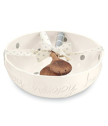 Image of Mud Pie Happy Serving Bowl Set