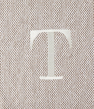 Image of Mud Pie Herringbone Embroidered Initial Throw
