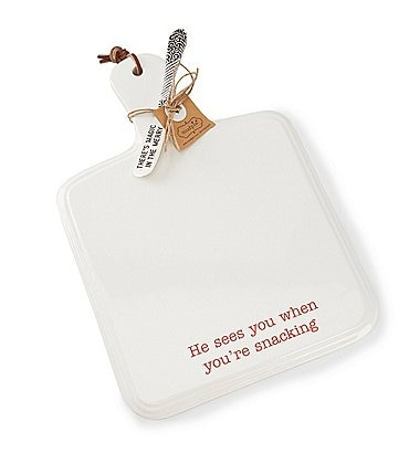 Image of Mud Pie Holiday Snacking Cheese Paddle Board, Set of 2