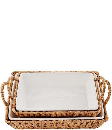 Image of Mud Pie Hyacinth Basket Baker Set