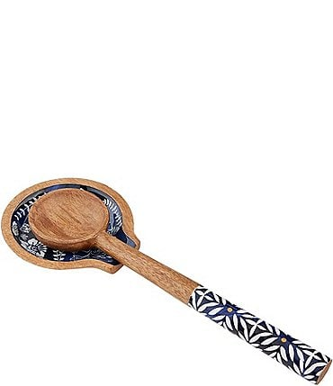 Image of Mud Pie Indigo Enamel Spoon Rest