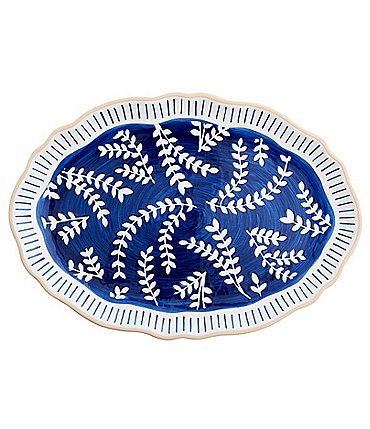 Image of Mud Pie Indigo Vine Platter