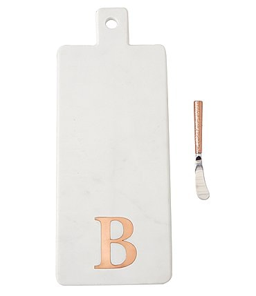 Image of Mud Pie Marble & Copper Initial Board with Spreader