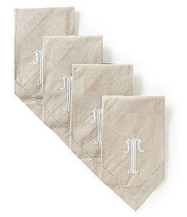 Image of Mud Pie Initial Napkin Set
