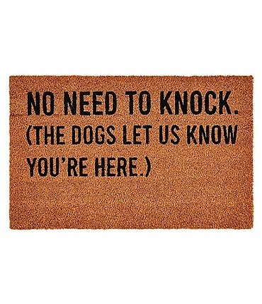 Image of Mud Pie Knock Coir Door Mat