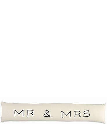 Image of Mud Pie Mr Mrs Long Pillow