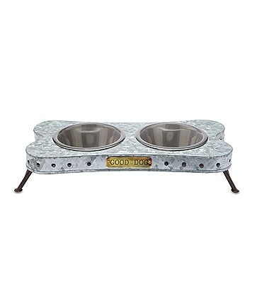 Image of Mud Pie Mud Puppy Collection Bone-Shaped Dog Bowl Stand