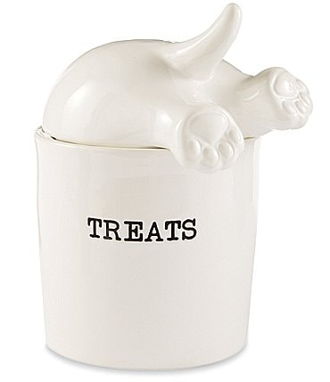 Image of Mud Pie Mud Puppy Collection Dog Tail Treat Canister